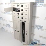 "Thirteen Compartment Handgun and Long Gun Locker with Combination Locks, 34"" wide x 12"" deep x 74"" high, #SMS-72-EDSG85C"