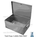 "Safety Hand Gun Box II with padlock hasp, 17"" wide x 17"" deep x 6"" high, #SMS-72-SB171760"