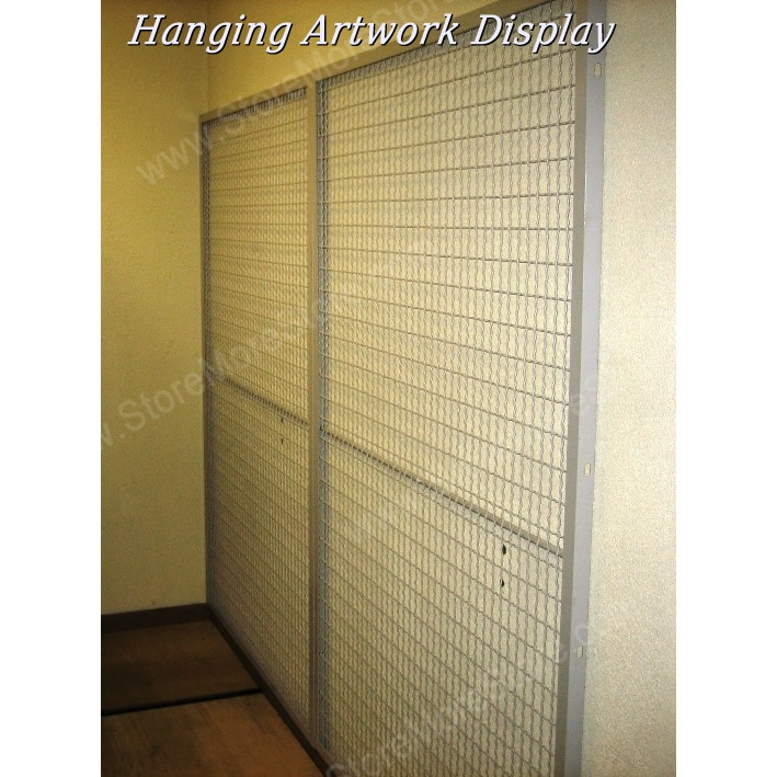Library Wall Mounted Mesh Display Artwork Panels | Wire Mesh Display ...