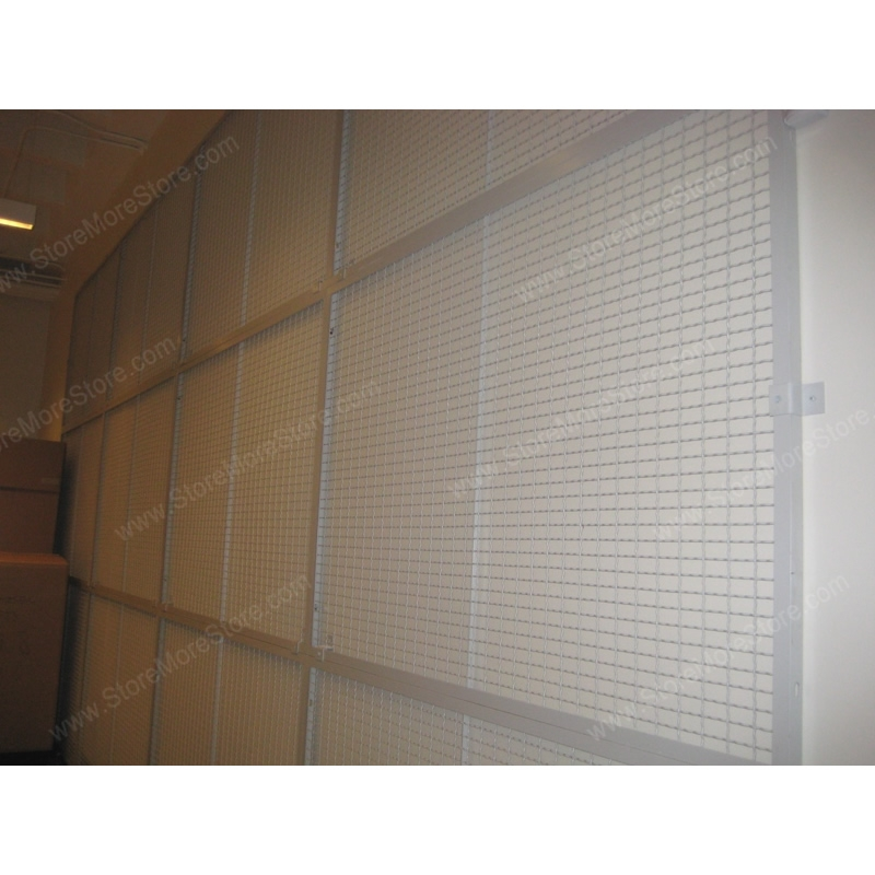 Wire Mesh Framed Painting Display Panel | Temporary Exhibits Wall ...