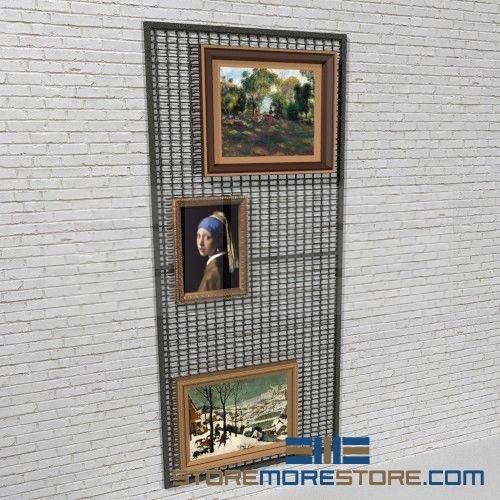 Artwork Wire Mesh Wall Display Panels Hanging Art Storage Racks