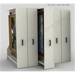 Framed Artwork Storage Racks security hold framed artwork on steel grids that slide on rolling bases, saving space, while keeping your valuable collection safe and secure.