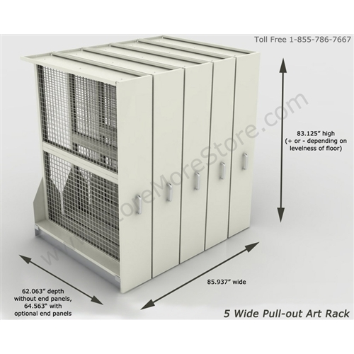 Free ...  sc 1 st  StoreMoreStore & Framed Artwork Storage Racks | Steel Art Pullout Rollout Panels ...