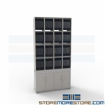 Free Standing Literature Racks Office Organizers Slots Workstation Distribution