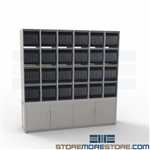 High Capacity Mail Station Mailroom Sorting Rack Office Slots Furniture Cubbies