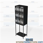 Catalog Rack System Office Literature Organizer Storage Shelves Collateral