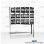 Vertical Mailroom Sorters Office Mail Slots Rack Cubbies Furniture Organizers