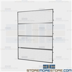 Overhead Pallet Rack Fall Guards Safety Shields Protecting Employees Warehouse