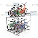 "Bike Storage Rack (5' Wide x 5'8"" Deep x 3'11"" High), SMS-79-BK58"