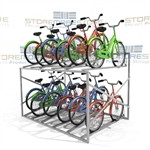 "Rack Storing Bicycles Stores 12 Bikes (7' Wide x 5'8"" Deep x 3'11"" High), SMS-79-BK712"