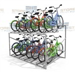"Large Metal Bike Rack Stores 14 Bicycles (8' Wide x 5'8"" Deep x 3'11"" High), SMS-79-BK814"