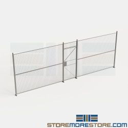 Wire Partition Fence 24' Wide Security Cage Panels 8' High Wirecrafters Wall