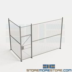 Security Wire Partitions 14' Wide Modular Fence Panels Warehouse 10' High