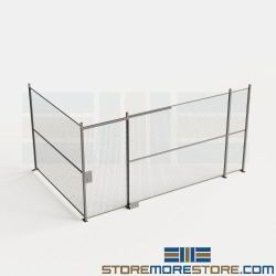 Mesh Security Walls with Gate Wire Cage Partitions Marijuana Storage Fence