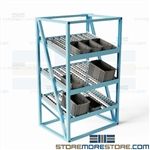 Gravity Flow Racks Slanted Conveyor Storage Shelves Cartons Pro-Line FOR4836