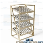 Carton Flow Racks Storage Shelves Skate wheels Gravity Conveyor FIFO Picking