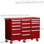 Three Wide Modular Drawer Cabinet with Casters L3BJD-3401B