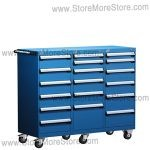 Triple Drawer Industrial Parts Cabinet on Wheels L3BJD-4002B