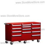 Triple Drawer Industrial Tool Cabinet with Casters L3BJG-2801B