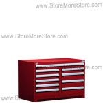 "Heavy-Duty Multi-Drawer Cabinet R5KHG-3005 | 10 drawers (48""W X 27""D X 32""H)"