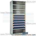 Modular Drawers in Shelving Units R5SEC-8736012 | Industrial Shelves 36 x 18 x 87