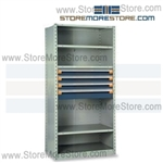 Shelving with Modular Drawers R5SEE-7518012 | Industrial Shelves 36 x 24 x75