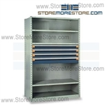 Shelving with Modular Drawers R5SHC-7518012 | Industrial Shelves 48 x 18 x 75