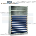 Shelving with Modular Drawers R5SHE-7548012 | Industrial Shelves 48 x 24 x 75