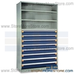 Modular Drawers in Shelving Units R5SHE-8748012 | Industrial Shelves 48 x 24 x 87