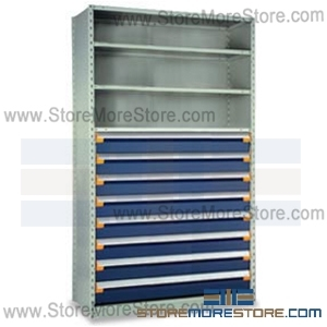 Modular Drawers In Shelving Units R5SHE 8748012 | Industrial Shelves 48 X  24 X 87