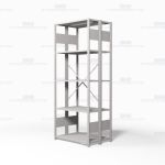 "Open Freestanding Industrial Storage Shelving, Starter Unit, 5 Shelves (36"" Wide x 24"" Deep x 87"" High), #SMS-81-SHD1004B"