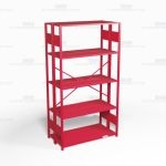 "Open Freestanding Industrial Storage Shelving, Starter Unit, 5 Shelves (48"" Wide x 24"" Deep x 87"" High), #SMS-81-SHD1034B"