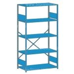 "Open Industrial Storage Shelving, Starter Unit, 5 Shelves (42"" Wide x 12"" Deep x 87"" High), #SMS-81-SHD1134"