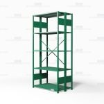 "Open Freestanding Industrial Storage Shelving, Starter Unit, 5 Shelves (42"" Wide x 24"" Deep x 87"" High), #SMS-81-SHD1134B"