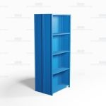 "Closed Freestanding Industrial Storage Shelving, Starter Unit, 5 Shelves (36"" Wide x 24"" Deep x 87"" High), #SMS-81-SHD2004B"