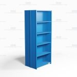 "Closed Freestanding Industrial Storage Shelving, Starter Unit, 6 Shelves (36"" Wide x 24"" Deep x 87"" High), #SMS-81-SHD2010B"