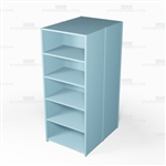 "Closed Freestanding Industrial Storage Shelving, Starter Unit, 6 Shelves (36"" Wide x 48"" Deep x 87"" High), #SMS-81-SHD2012B"
