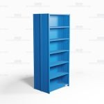 "Closed Freestanding Industrial Storage Shelving, Starter Unit, 7 Shelves (36"" Wide x 24"" Deep x 87"" High), #SMS-81-SHD2016B"