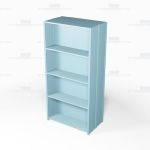 "Closed Freestanding Industrial Storage Shelving, Starter Unit, 5 Shelves (42"" Wide x 24"" Deep x 87"" High), #SMS-81-SHD2134B"