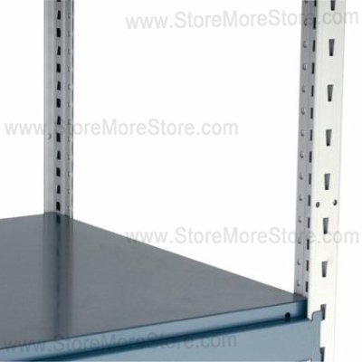 Steel Industrial Storage Shelves ...  sc 1 st  StoreMoreStore & Steel Industrial Storage Shelves 48x18x87 Rousseau SRA5021S 4 Levels ...
