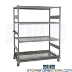 Portable Bulk Rack Rolling Mobile Shelves No Deck