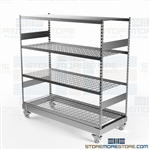 Bulk Racks on Wheels Portable Storage Shelves