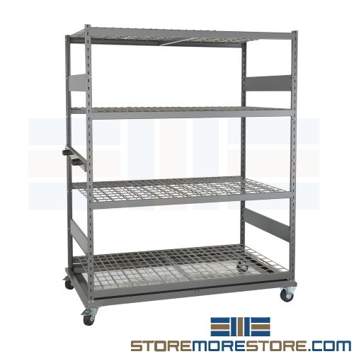 Free ...  sc 1 st  StoreMoreStore & Bulk Racks on Wheels Portable Storage Shelves Rolls on Casters ...