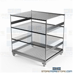 Rolling Parts Distribution Rack Portable Large