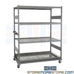 Bulk Storage Racks Casters Rolling Shelves Wood