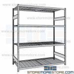 metal shelving units and heavy duty steel wire decked racks are Rousseau SRD5022W