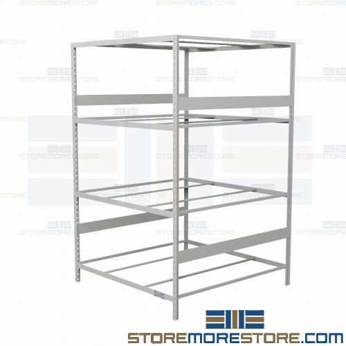 Alternative Views  sc 1 st  StoreMoreStore & Industrial Metal Storage Racks 48x48x87 Rousseau SRD5024 4 Levels ...
