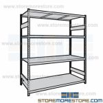 Long-Span Shelving with Steel Decks and heavy duty metal storage shelves are Rousseau SRD5075S