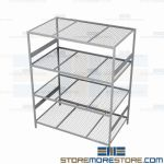 wide span storage shelving and industrial metal storage shelves are Rousseau SRD5077W