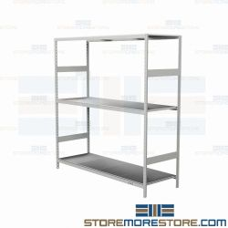 "24"" Deep Metal Decked Bulk Racks and adjustable steel racking systems are Rousseau SRD5102S"